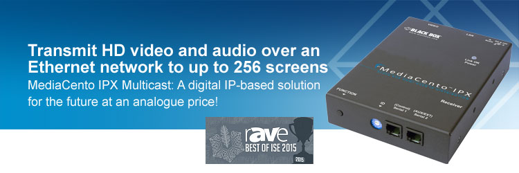 Transmit HD video and audio over an Ethernet network to up to 256 screens.