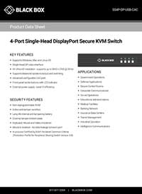 Data Sheet Conmutadores KVM seguros